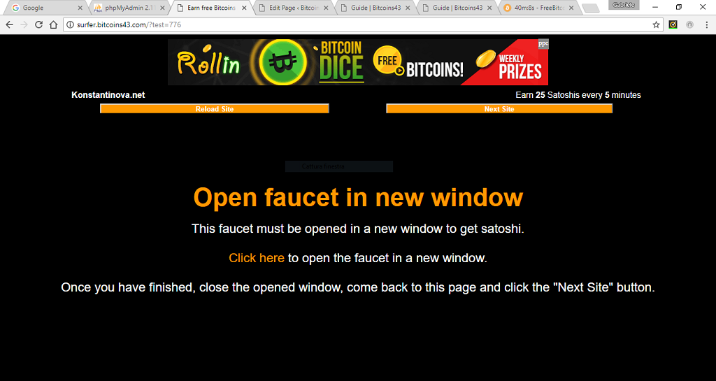 Bitcoins43 - Get free bitcoin now - Open faucet in new window